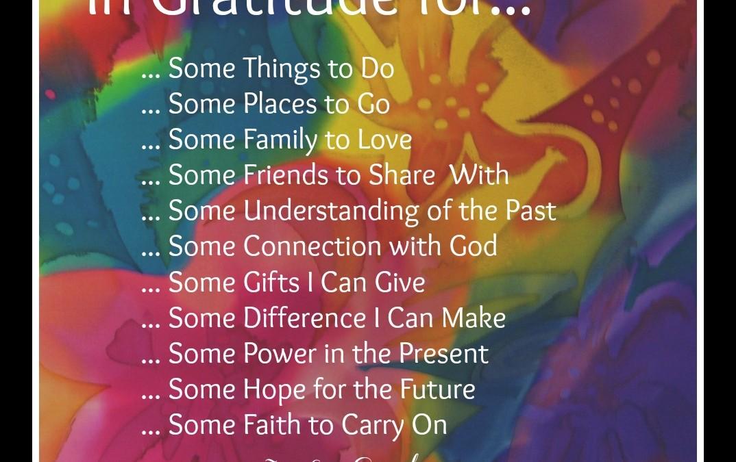 Some Gratitude by Jo Lyn Cornelsen