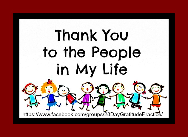 Gratitude for the People in My Life